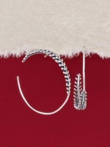 Сребърни обеци - E132153