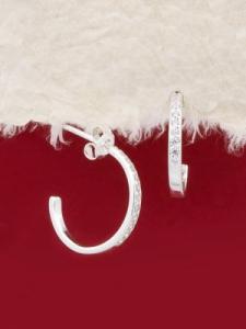 Сребърни обеци - E139322