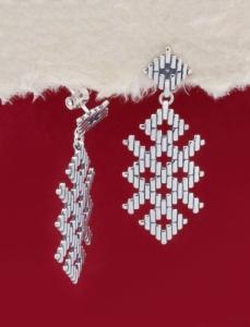 Сребърни обеци - E131104