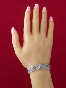 Сребърна гривна - B201159