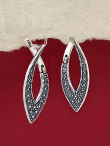 Сребърни обеци - E001St