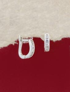 Сребърни обеци - E009S