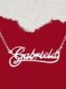 Сребърно колие с име Gabriela