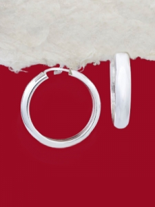 Сребърни обеци - Халки - EH025S-22