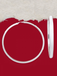 Сребърни обеци - Халки - EH025S-54