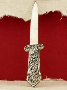 Сребърен нож за писма S11H