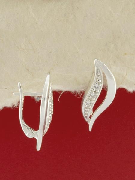 Сребърни обеци - E138736
